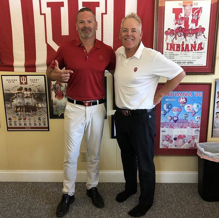 Dr. Bob with IU Coach, Mike